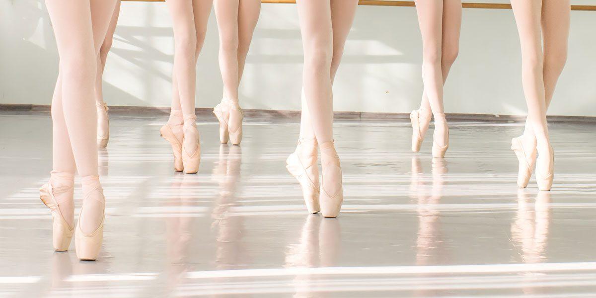 Ballettunterricht in Spitzenschuhen